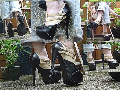 11315 - Platform Heels in the garden