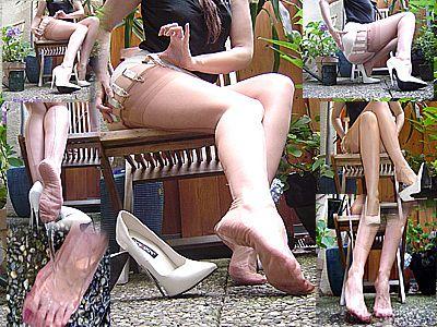 12303 - Wet nylonlegs in the garden