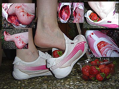 12637 - IN SHOE CRUSH strawberries in my white PUMA sneakers