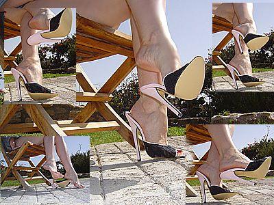 9597 - Dangling and leg crossing very sexy Elite-Heels mules