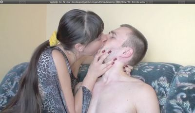 17681 - BONDAGED MALE TICKLING AND KISSING
