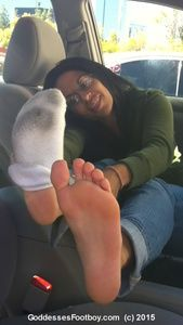 81425 - New 2015 Goddesses' Footboy: Cute Girl's Filthy Socks & Gorgeous Barefeet (Part II)