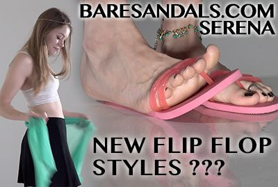 104987 - Selena teases us in new style pink Flip Flops