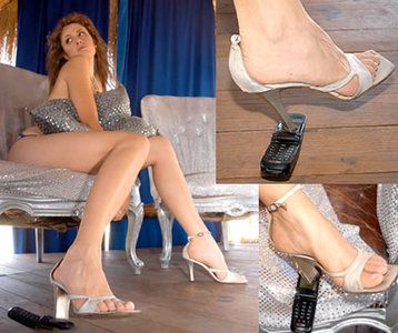 27232 - Alessia high heels phone crush