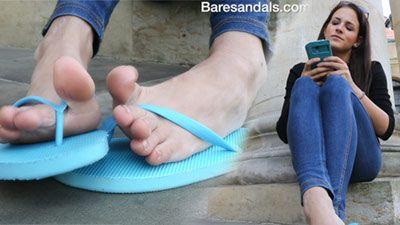 75734 - Nikola angling blue rubber flip flops