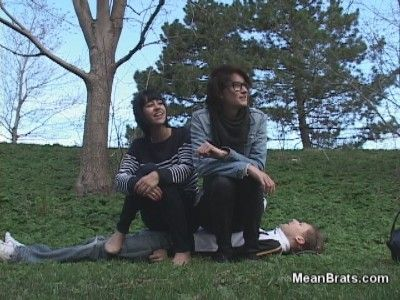61995 - Mina and Colette Sit on a Boy!