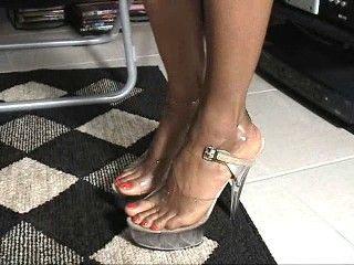 26067 - Nina In Sheer Black Stockings Part 2
