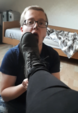 Mistress wipes her filthy boots on the slave