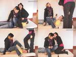Amber & Nadia Sit on a Boy!